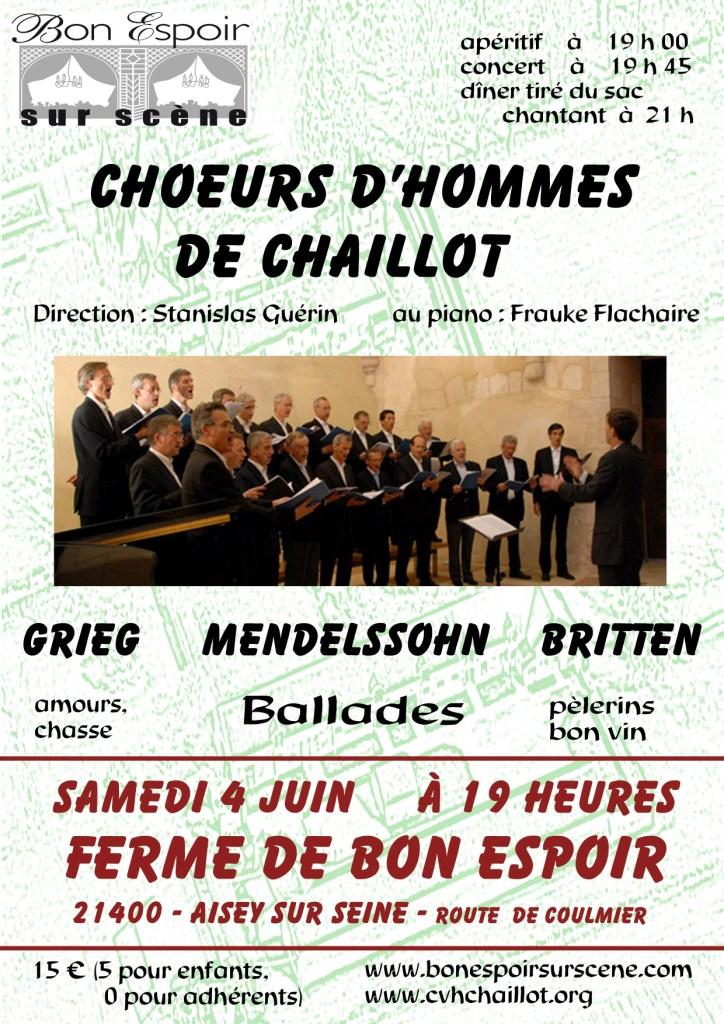 concert Choeur d'Hommes de Chaillot du 4 juin 2011